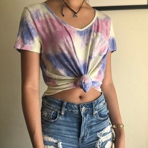 Hollister tie dye tee, short sleeve, S